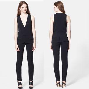 A.L.C black sleeveless suit jumpsuit black size 0